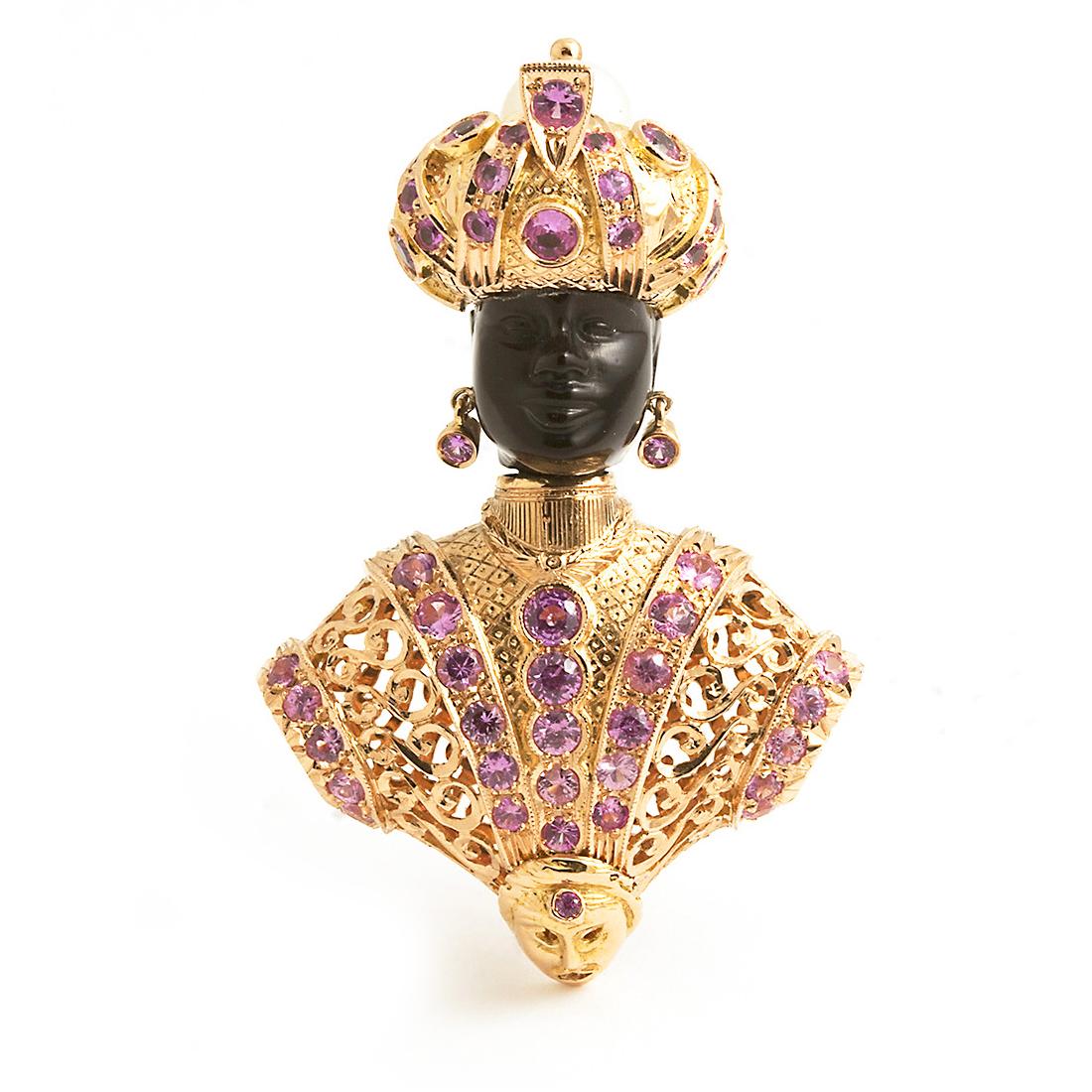 Moretto Rinascimento <br />brooch and pendant