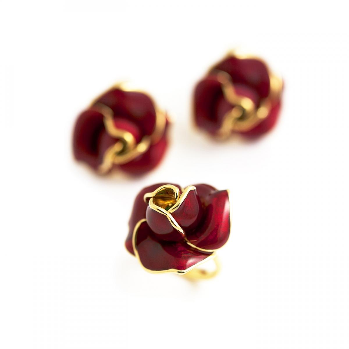 Anello e orecchini Rosa